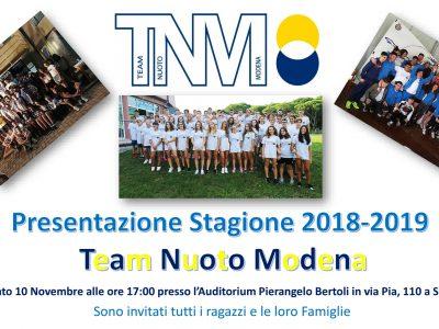 Presentazione Stagione 2018-2019
